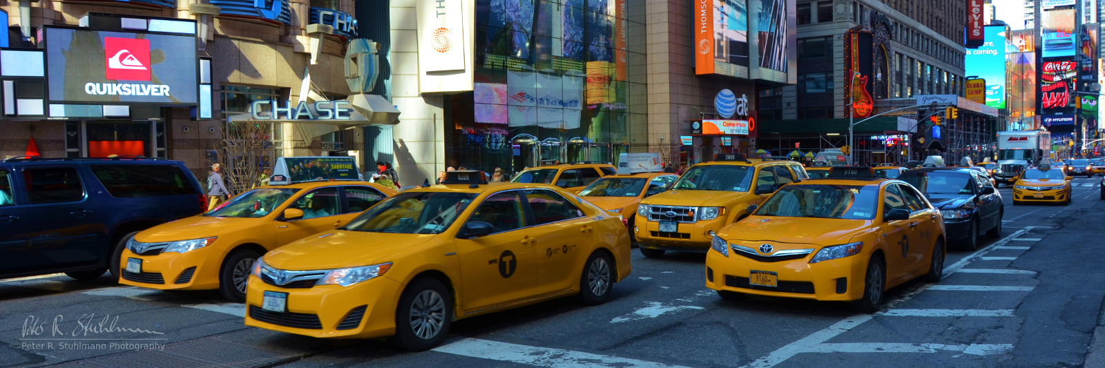 Taxis am Times Square