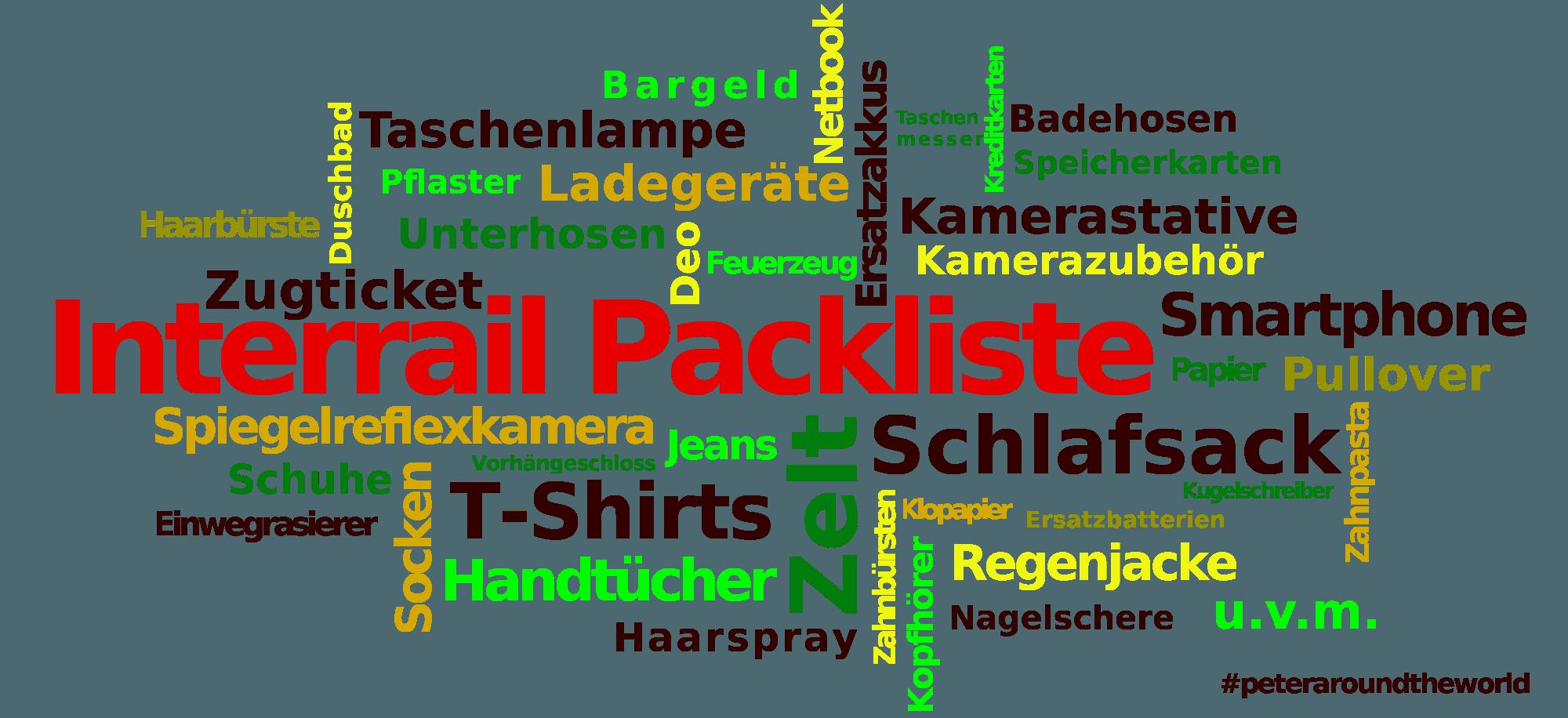 InterRail Packliste