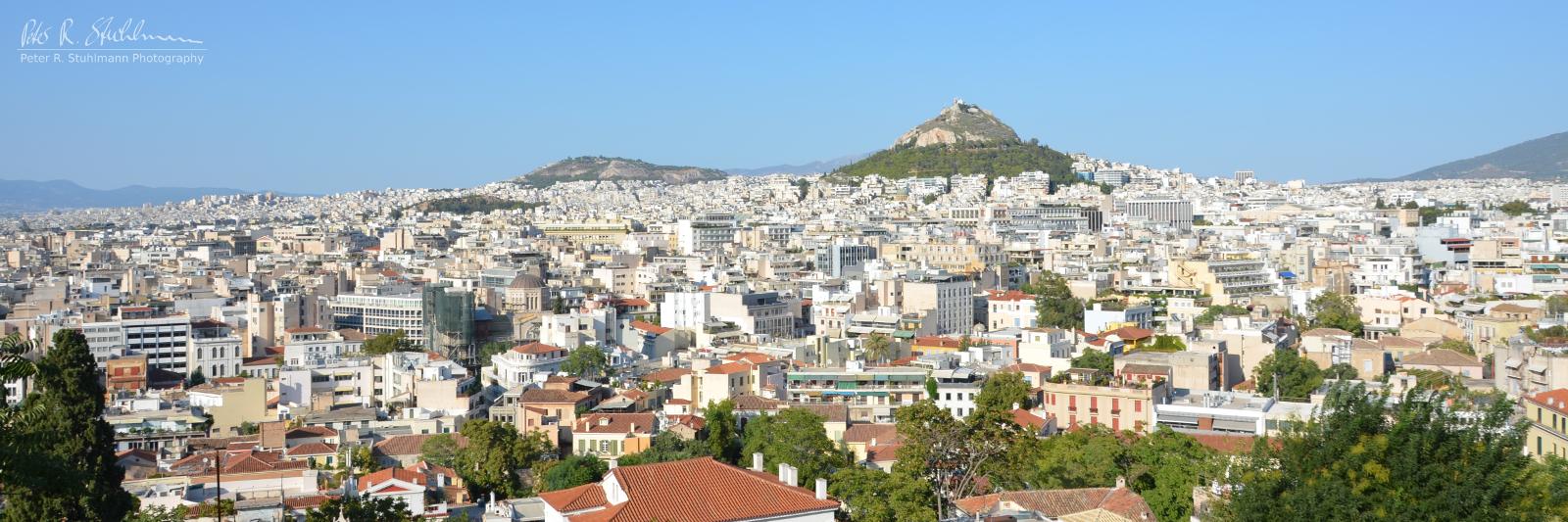 Blick über Athen.
