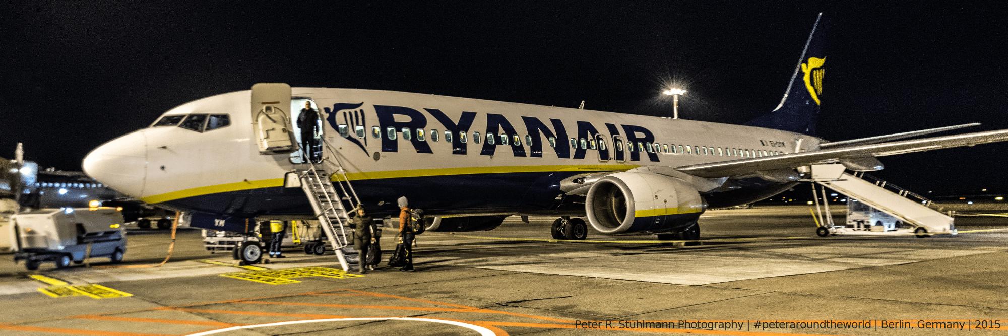 Ryanair-Flieger am Flughafen Schönefeld.