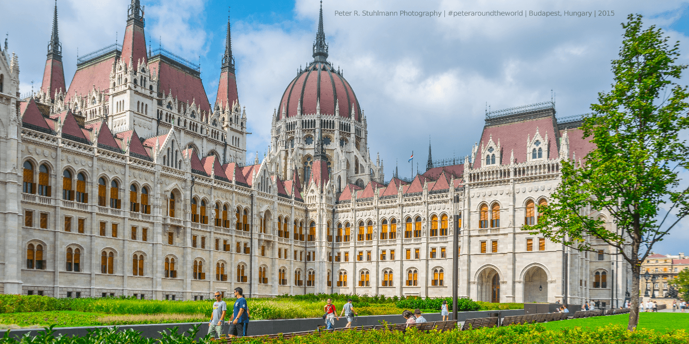 Das bekannte Parlamentsgebäude in Budapest