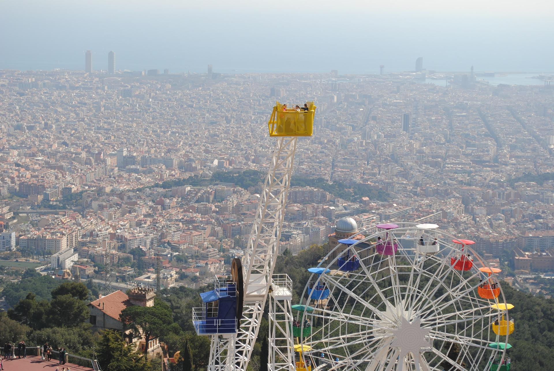 Städtefotografie Barcelona: Tibidabo