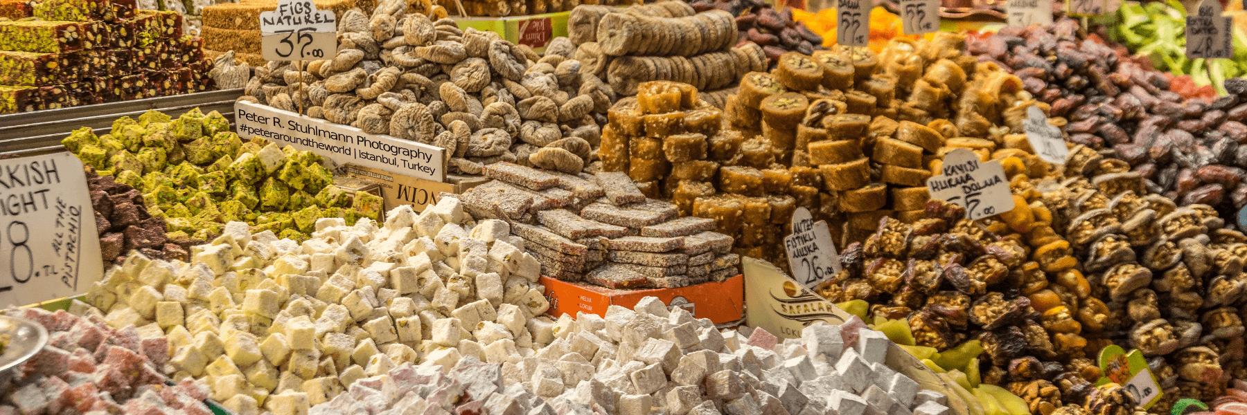 Istanbul Sehenswürdigkeiten: Turkish Delight auf dem Großen Basar.