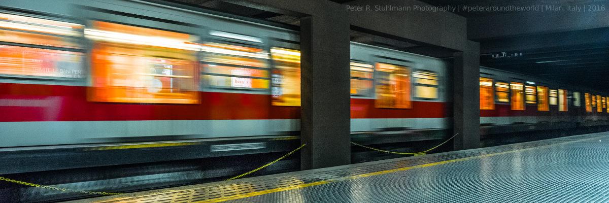 Mailand: Bahnsteig Lampugnano: Hier fährt die Linie M1 vom Busbahnhof bis ins Stadtzentrum, z.B. zum Dom