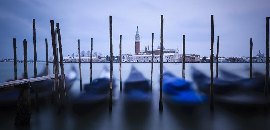 Venedig zur Blauen Stunde.